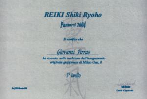 Certificazione Reiki Shiki Ryoho